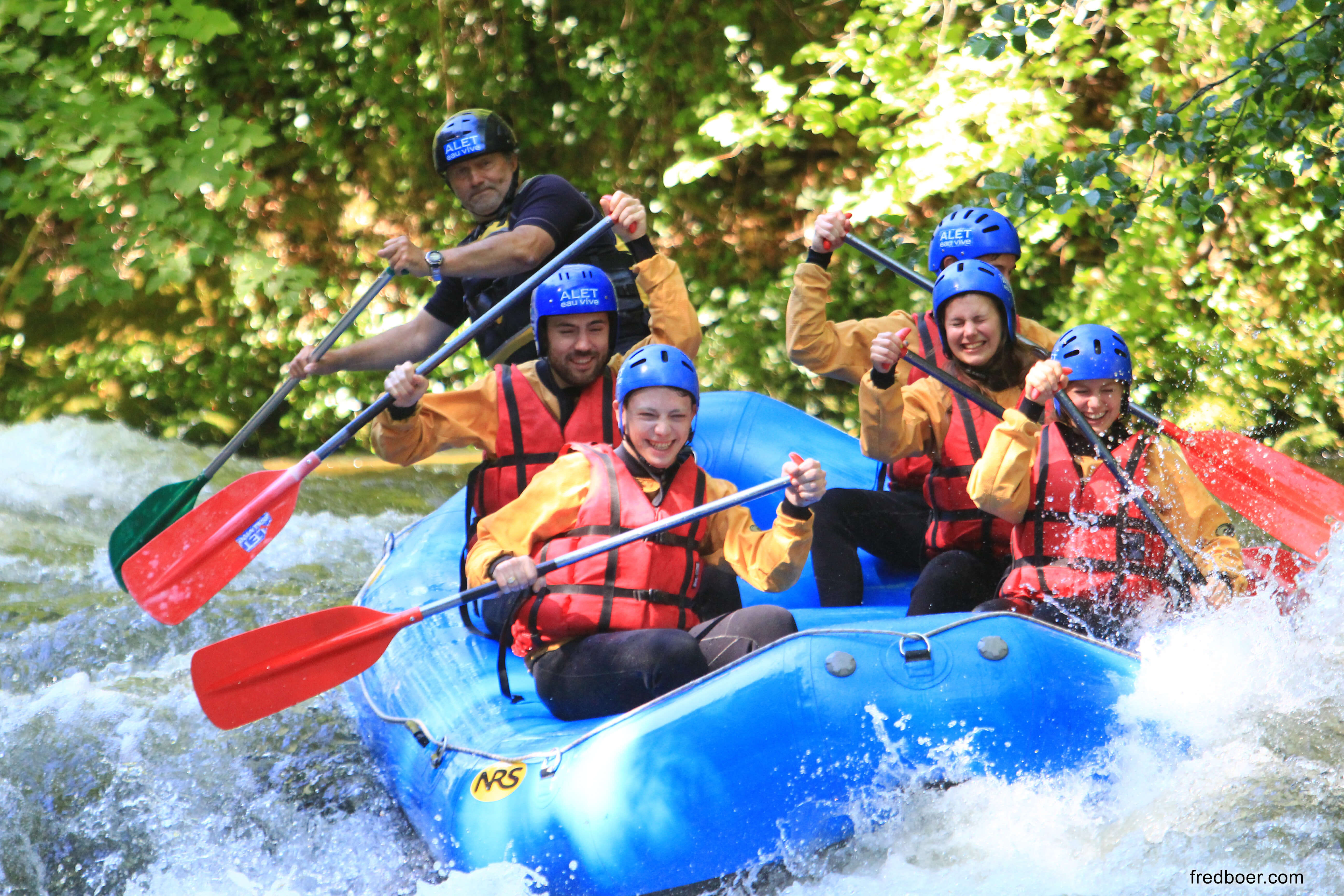 Rafting in the high valley of the Aude - aleteauvive