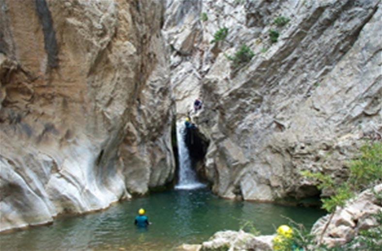 canyon à Alet les bains dans l'Aude